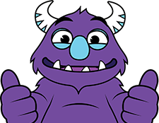Fun.com Monster giving two thumbs up